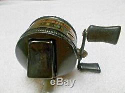 Vintage RARE Black Zebco 33 Spinning Reel Fishing Reel
