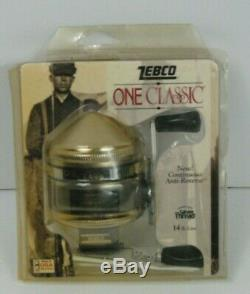Vintage Rare Zebco One Classic Gold Continuous Anti-reverse, 14 lb line