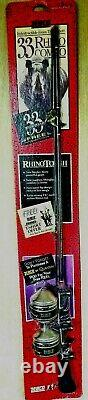 Vintage Sealed Zebco 33 Rhino Tough Rod & 2 Reels Combo Man Cave Package Wear
