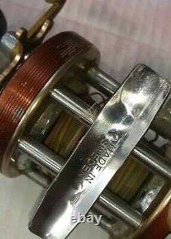 Vintage Union Steel Tackle Box Zebco, Garcia Mitchell, Haddon Reels, Bug And