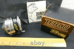 Vintage ZEBCO 33XBL 33 XBL Fishing Reel In Box
