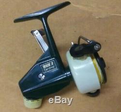 Vintage ZEBCO CARDINAL 3 SPINNING REEL SWEDEN 750400 NEVER USED MINT COND