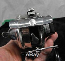 Vintage ZEBCO Model 33 spinning reel New Old Stock orig box chrome/black fishing
