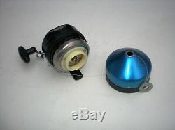 Vintage Zebco 312 Reel! Very Rare Anodized Blue Nose Cone! USA