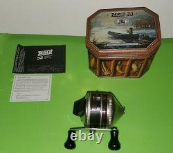 Vintage Zebco 33 Fishing Reel In Collectors Classic in Tin Box With Paperwork NEW