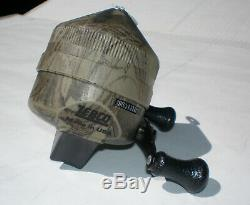 Vintage Zebco 404 Style Camouflage Reel! Rare & Complete! Made In USA