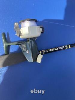 Vintage Zebco Cardinal 3 Spinning Reel With Era Correct Omega Rod