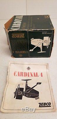 Vintage Zebco Cardinal 4 Fishing Reel MIB Unused SWEDEN