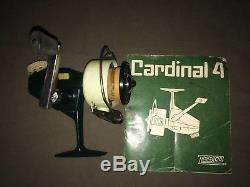 Vintage Zebco Cardinal 4 Fishing Reel New Unused SWEDEN