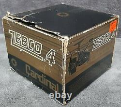 Vintage Zebco Cardinal 4 Includes Box Manual & Wrench