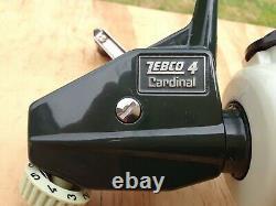 Vintage Zebco Cardinal 4 Spinning Reel Sweden 750800 Green Excellent withmanual