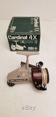 Vintage Zebco Cardinal 4X Fishing Reel MIB Excellent SWEDEN