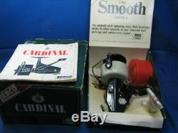 Vintage Zebco Cardinal 6 New in Box with tools and all Paperwork Never Spooled
