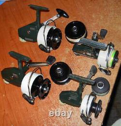Vintage Zebco Cardinals 3-4-6-7 Clean Nice Extra Spools also