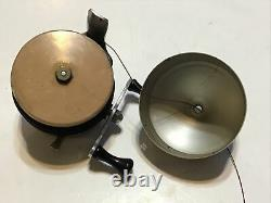 Vintage Zebco Casting Reel 1st Version Tan Spool WithBox & Papers Lot T11