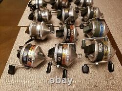 Vintage Zebco Fishing Reel Lot 16 Reels Works