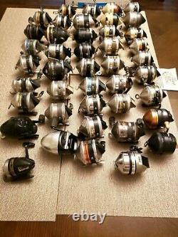 Vintage Zebco Fishing Reel Lot 43 Reels 33 202 404 600 802 Omega Prostaff