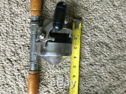 Vintage Zebco Heavy Duty Spinner Model 55 Fishing Reel & Rod