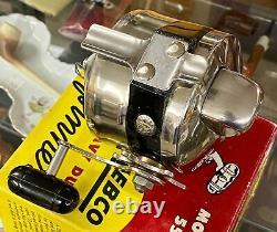 Vintage Zebco Model 55 Heavy Duty Spinner Fishing Reel /w Box & Instructions