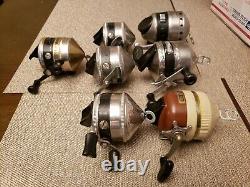 Vintage Zebco One 802 Omega 181 33 Spinner Lot 7PCS Reels Works