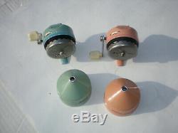 Vintage Zebco Pink & Blue 202 Style Reel Set! USA