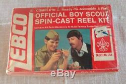 Vintage Zebco Red AND White Boy Scouts Of America FISHING Reel USA NEW SEALED