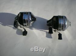 Vintage Zebco Silver/black Reel Set02dl & Custom Set! USA