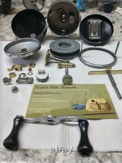 Vintage Zebco Spinner Model 33 Chrome Body #350 USA Made