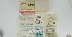 Vintage Zebco Zero Hour Bomb Co. Tan Spinner Reel W Box Paper & Receipt