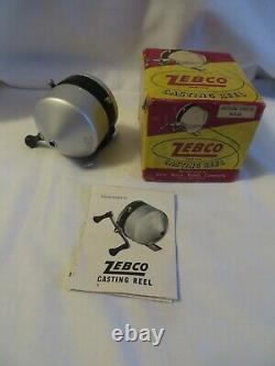 Vintage Zebco & Zero Hour Bomb Company Standard 1st Year Reel in Box Works