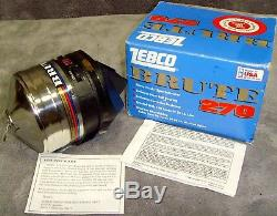 Vintage1994Brand New in Box! Zebco270 BruteReelMetal FootMade in USARare