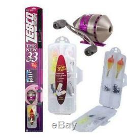 Zebco 33 Ladies Womens Girls Pink Fishing Rod Reel Tackle Spincast 3490KL10CBP6