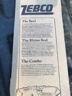 Zebco 33 Rhino Tough Combo Rod & 2 Reel Fishing Reels Vintage 1994 ZRC56ML Rod