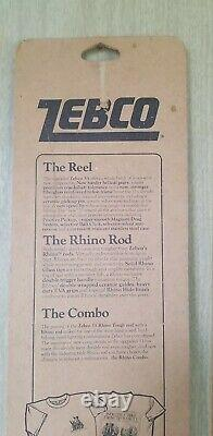 Zebco 33 Rhino Tough rod and 2 reel matching combo Made in the USA New Vintage