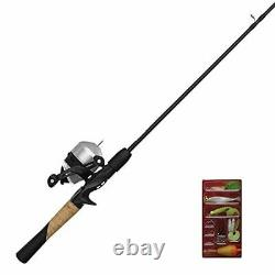 Zebco 33 Spincast Reel and 2-Piece Fishing Rod Package Combo, 5.5-Foot Durable F