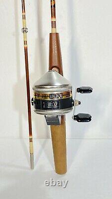 Zebco 33 Vintage Reel & Centennial Fishing Pole No. 4060. COLLECTORS