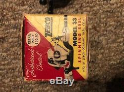 Zebco 33 spinning reel feather touch control with original box