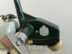 Zebco Cardinal 3 Ultralight Spinning Reel 2 Tone Green Vintage 750800 Excellent