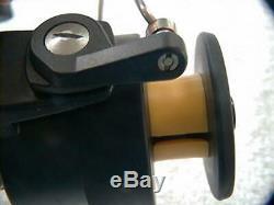 Zebco Cardinal 557 never used or lined. Ser. # 811202, vintage displayed on rod