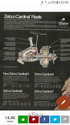 Zebco Cardinal 7 Reel vintage