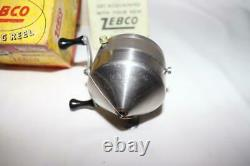 Zebco Model 11 Spin-cast Reel U. S. A. Made Box With Papers