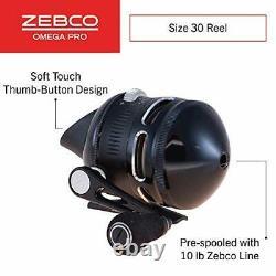 Zebco Omega Pro Spincast Fishing Reel, 7 Bearings (6 + Clutch), Anti-Reverse