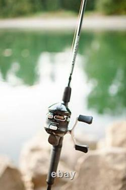 Zebco Omega Pro Spincast Reel and 2-Piece Fishing Rod Combo Durable 6-Foot 6