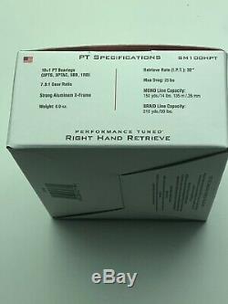 Zebco Quantum PT, SM100HPT Smoke S3 Baitcast Reel 7.31, 10+1 Bearings