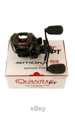 Zebco Quantum Reel Baitcast Smoke S3 PT Left Hand 6.11 SM101SPT