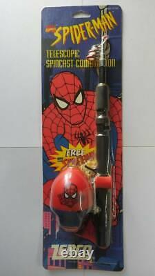 Zebco Spider-Man Fishing Rod Reel Lure Spider Figure All