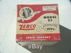 Zebco Vintage 33 Plastic spinnerhead, box & paperwork, very nice unit. Free Ship
