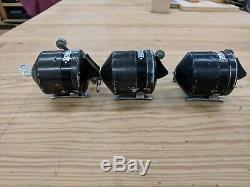 3 Vintage Zebco Modèle 700 Hoss Spinning Made In USA