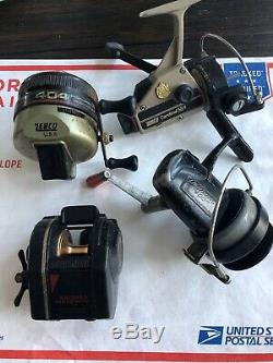 8 Vintage Reels Asis-zebco Cardinal 554 Starlite Silstar Zebco 404 404 Foudre
