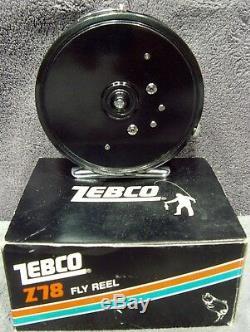 Bobine À Mouche Zebco Z78 Vintage 1983 Tout Neuf - Pied En Métal - Comprend Manuel Japon